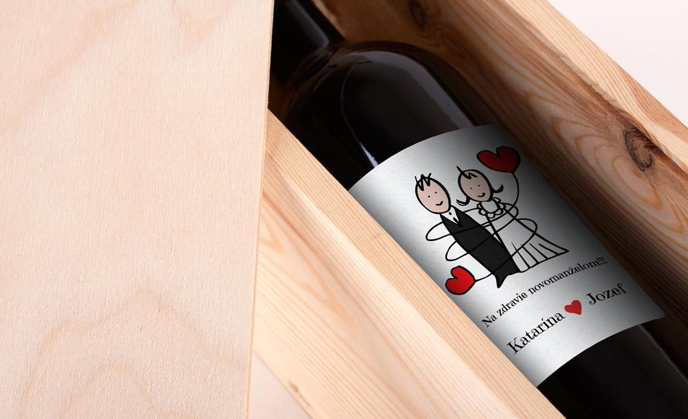 Katarína & Jozef - etiketa na víno