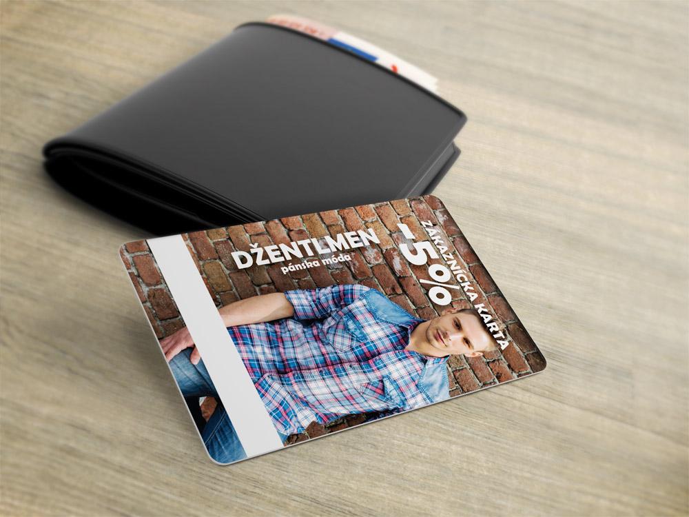 Džentlmen - zákaznícka karta